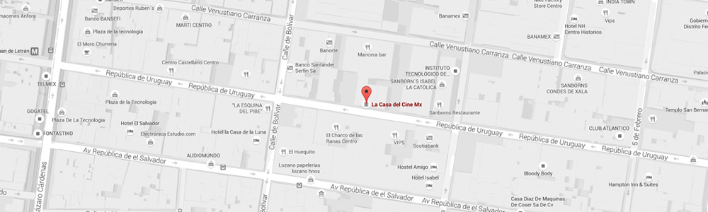 Ubicación Casa del Cine MX